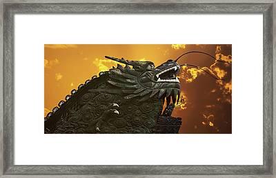 Dragon Wall - Yu Garden Shanghai Framed Print by Christine Till
