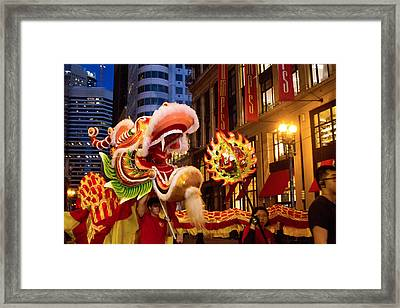 Dragon With Fire Framed Print