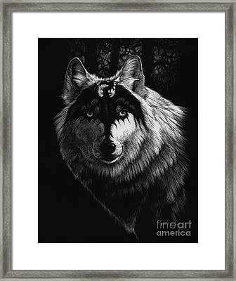 Dragon Wolf Framed Print by Stanley Morrison