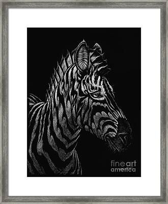 Framed Print featuring the painting Dragon Zebra by Stanley Morrison