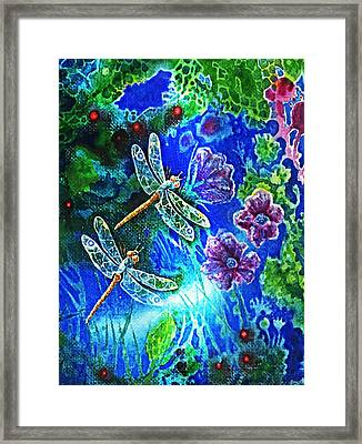 Dragonflies Framed Print by Hartmut Jager