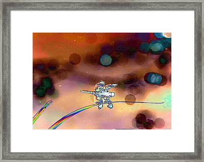 Dragonfly Abstract Framed Print by Jeff Swan
