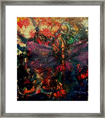 Dragonfly And Fishing Lures Framed Print by Penfield Hondros