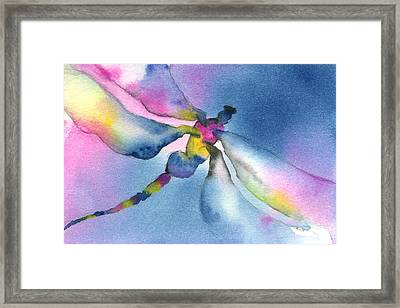Dragonfly Blues Framed Print by Gladys Folkers