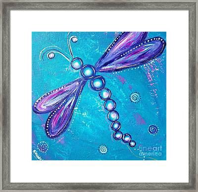 Dragonfly Bubble Art Framed Print