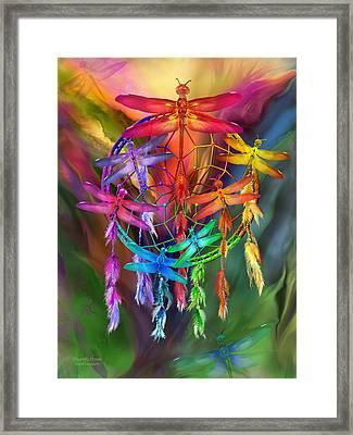 Dragonfly Dreams Framed Print by Carol Cavalaris