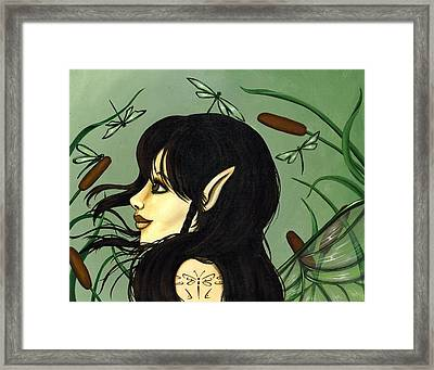 Dragonfly Fairy 5 Framed Print by Elaina  Wagner
