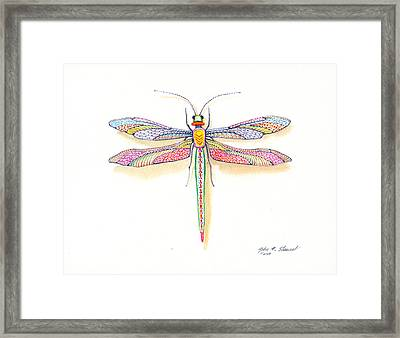 Dragonfly Framed Print by John Norman Stewart