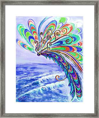Dragonfly Framed Print by Lucy Max