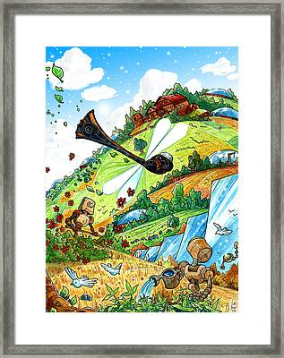 Dragonfly Framed Print by Luis Peres