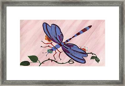 Dragonfly Framed Print by Norman Reutter