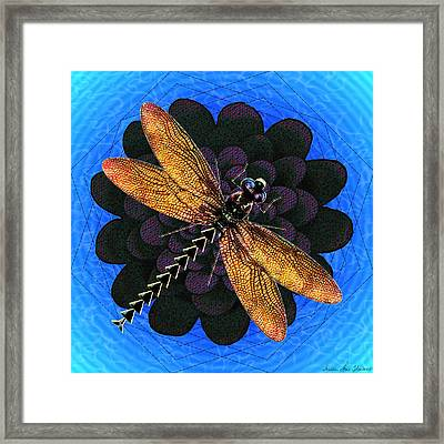 Dragonfly Snookum Framed Print by Iowan Stone-Flowers