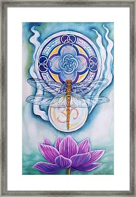 Dragonfly Spirit Framed Print by Diana Shively