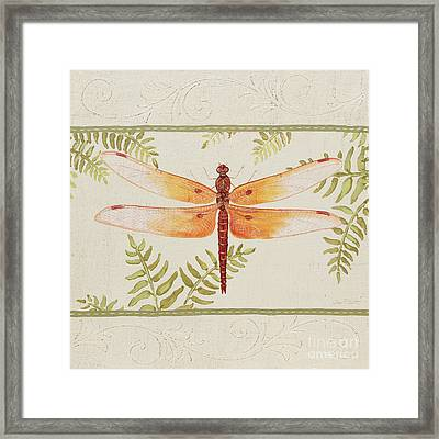 Dragonfly Wonder-jp3142 Framed Print by Jean Plout