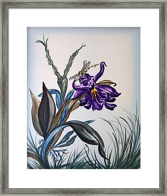 Dragonfly Framed Print by Yvonne Kinney