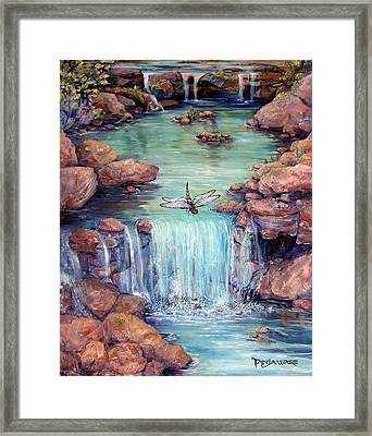 Dragonfly's Dream Framed Print by Tanja Ware