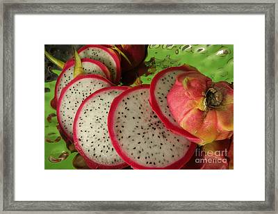 Framed Print featuring the photograph Dragonfruit  by Christine Amstutz
