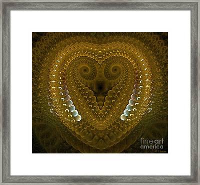 Dragonheart Framed Print by Sandra Bauser Digital Art