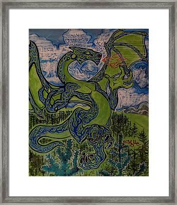 Dragonosity Framed Print by Christian Kolle
