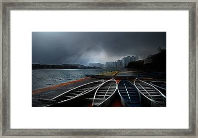 Dragons Awakening Framed Print