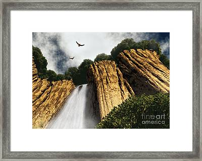 Dragons Den Canyon Framed Print by Richard Rizzo