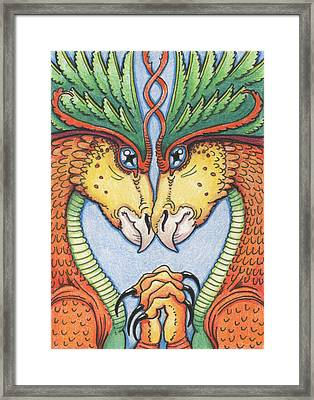 Dragons Desire Framed Print by Amy S Turner