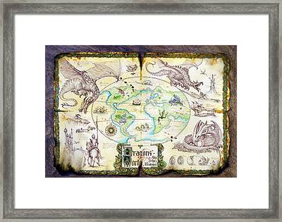 Dragons Of The World Framed Print by The Dragon Chronicles - Garry Wa