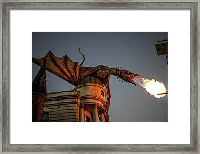 Dragon's Revenge Framed Print by Luis Rosario