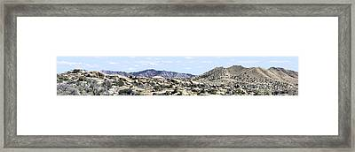 Dragoon Mountains Panorama Framed Print by Sharon Broucek