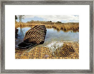 Framed Print featuring the painting Drain - Mendon Ponds by Peter J Sucy