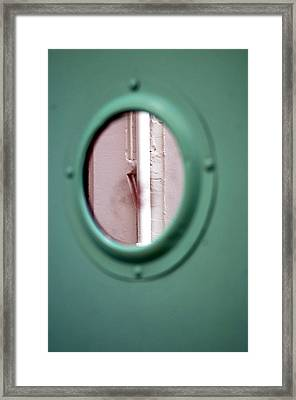 Framed Print featuring the photograph Drained Door by Jez C Self