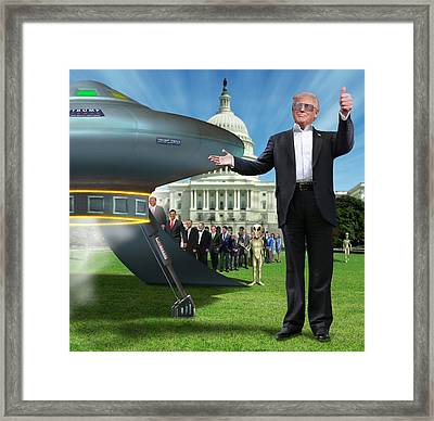 Framed Print featuring the digital art Draining The Swamp With Help From Above by Mike McGlothlen