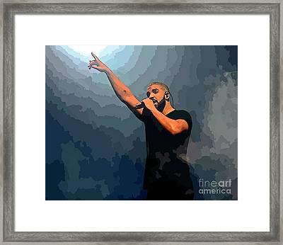 Drake Abstract Art Framed Print