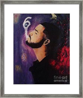 Drake The Six God Framed Print