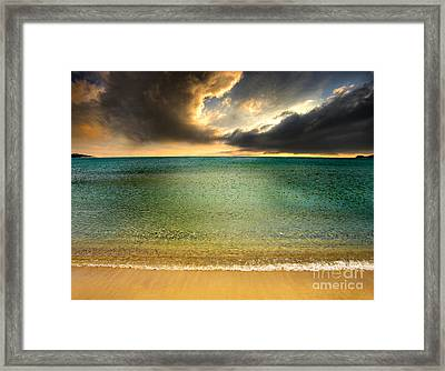 Drama At The Beach Framed Print