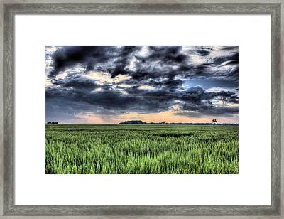 Drama In Delmarva Framed Print