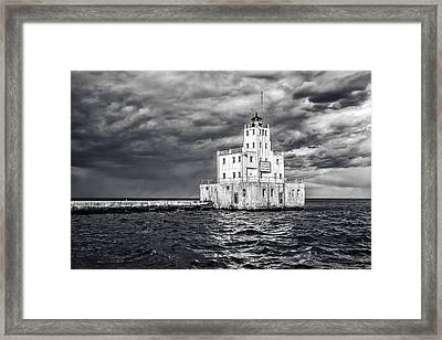 Drama In The Clouds Framed Print