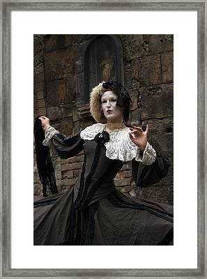 Drama In The Gothic Quarter Framed Print by Jason Hochman
