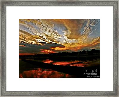 Drama In The Sky At The Sunset Hour Framed Print by Carol F Austin