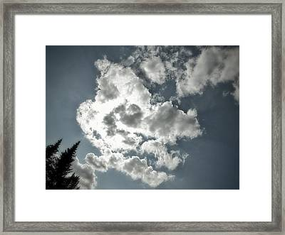 Framed Print featuring the photograph Drama In The Sky by Karen Stahlros