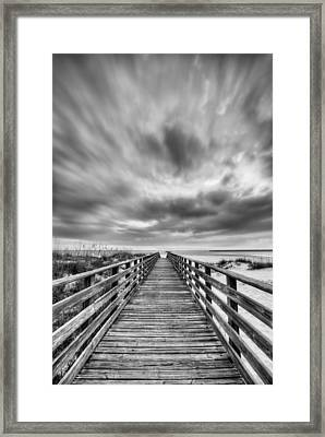 Drama Over Orange Beach Framed Print by JC Findley