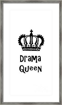 Drama Queen 1 Framed Print by Edward Fielding