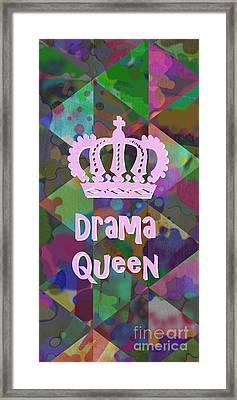 Drama Queen 3 Framed Print by Edward Fielding
