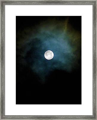 Framed Print featuring the photograph Drama Queen Full Moon by Menega Sabidussi