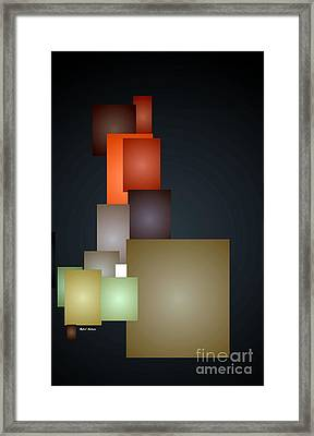 Dramatic Abstract Framed Print by Rafael Salazar
