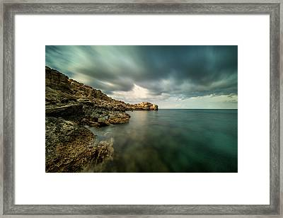 Dramatic And Calm Framed Print