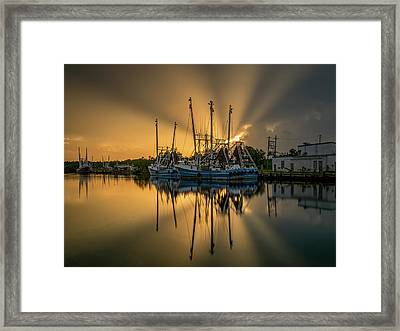 Dramatic Bayou Sunset Framed Print