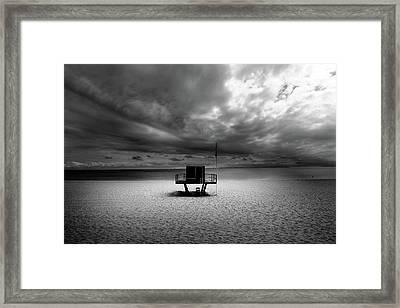 Dramatic Beach Framed Print by Marc Huebner