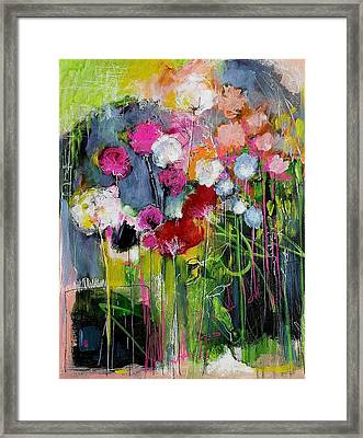 Dramatic Blooms Framed Print by Nicole Slater