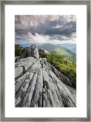 Dramatic Blue Ridge Mountain Scenic Framed Print by Mark VanDyke